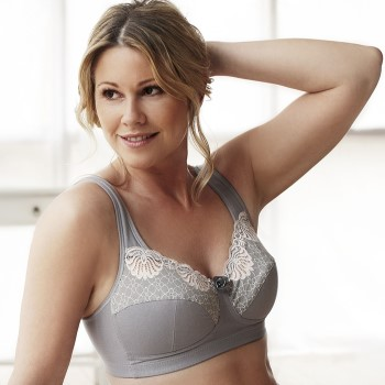 Image of Swegmark Faithful Fairtrade Soft Bra Grey