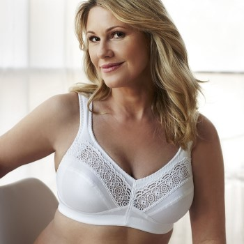 Image of Swegmark Cotton Star Soft Bra White