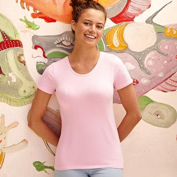 Image of Fruit of the Loom Lady-Fit Crew Neck T