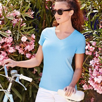 Image of Fruit of the Loom Lady-Fit V-Neck T