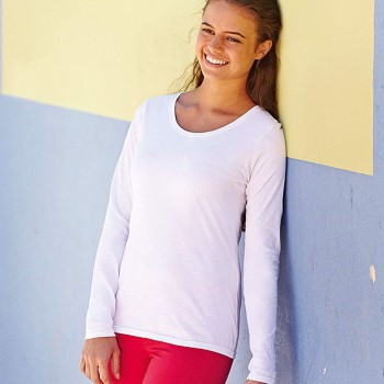 Image of Fruit of the Loom Lady Fit Valueweight Long Sleeve