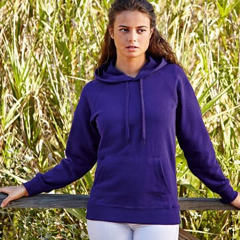 Image of   Fruit of the Loom Lady-Fit Light Hooded Sweat * Gratis Fragt *