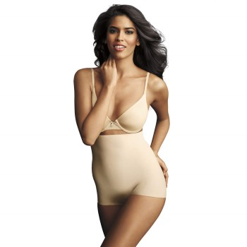 Image of   Maidenform Sleek Smoothers Hi-Waist Boyshort * Gratis Fragt *