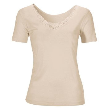 Damella Wool And Silk Top Short Sleeve
