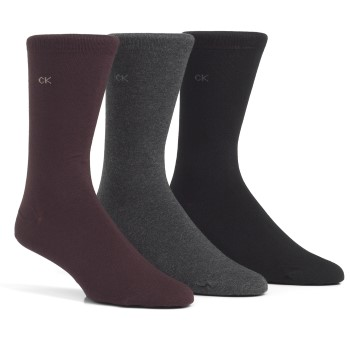 Image of   Calvin Klein Eric Cotton Flat Knit Socks 3-pak * Gratis Fragt *