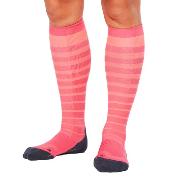 Image of   2XU Striped Run Compression Socks Women * Gratis Fragt *