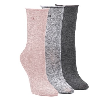 Image of   Calvin Klein Emma Roll Top Crew Socks 3-pak * Gratis Fragt *