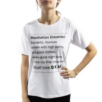 DKNY Spell It Out Short Sleeve Tee * Maksuton Kuljetus *