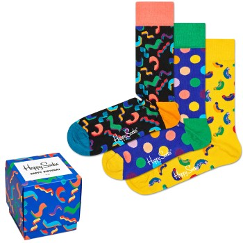 Happy socks 3 stuks Happy Birthday Gift Box