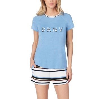 DKNY Earn Your Stripes Top And Boxer Pj Set