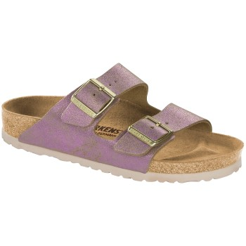 Birkenstock Arizona Leather Washed Metallic * Actie *