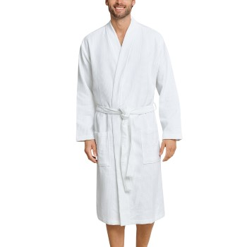 Schiesser Essentials Waffle and Terry Bathrobe