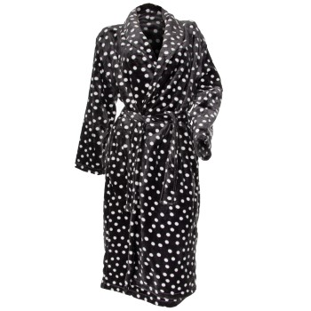 Damella Fleece Printed Dot Robe