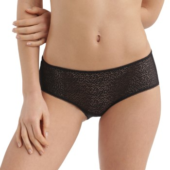 DKNY Trusser Modern Lace Trim Hipster Sort nylon Small Dame