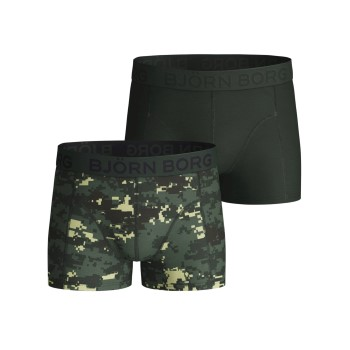 Björn Borg 2P Cotton Stretch Shorts For Boys 2112 Camouflage bomuld 122-128