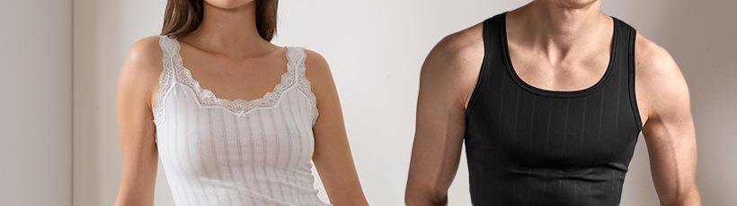 Toppeja ja hihattomia paitoja miehille ja naisille Timarcolta